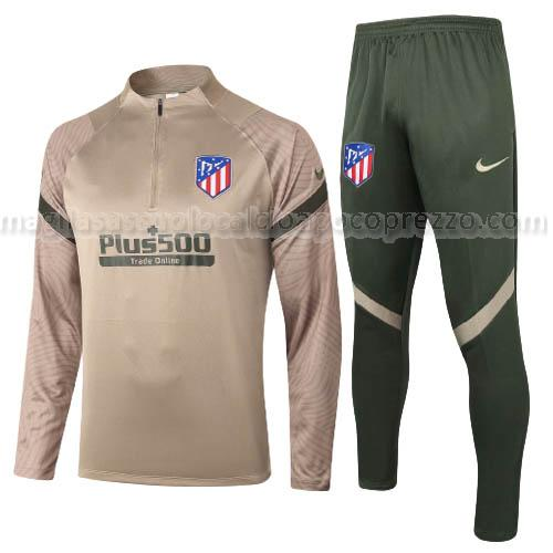 felpa atletico de madrid marrone 2020-21