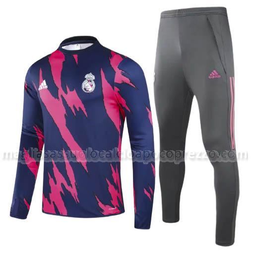 felpa real madrid blu rosa 2020-21