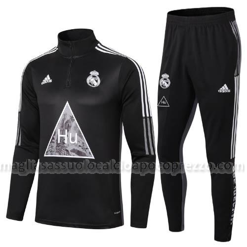 felpa real madrid humanrace nero 2020-21