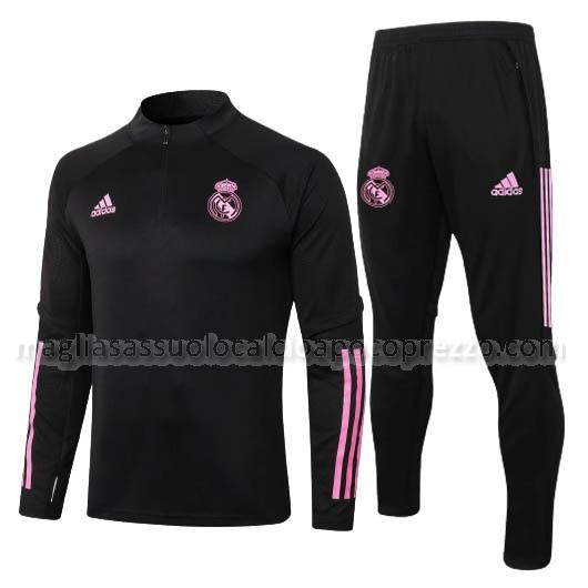 felpa real madrid nero 2020-21