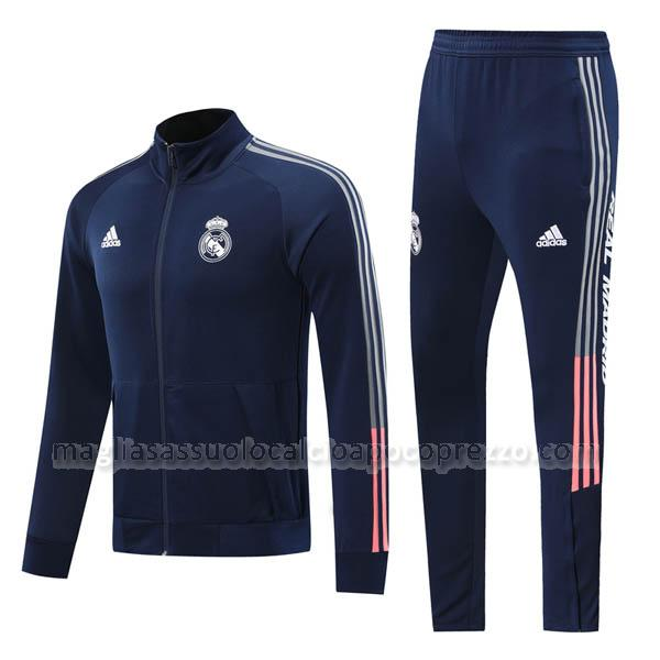 giacca real madrid blu navy 2020-21
